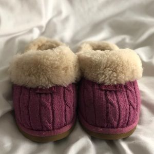 Girls Ugg Australia Sweater Knit Cozy Slipper